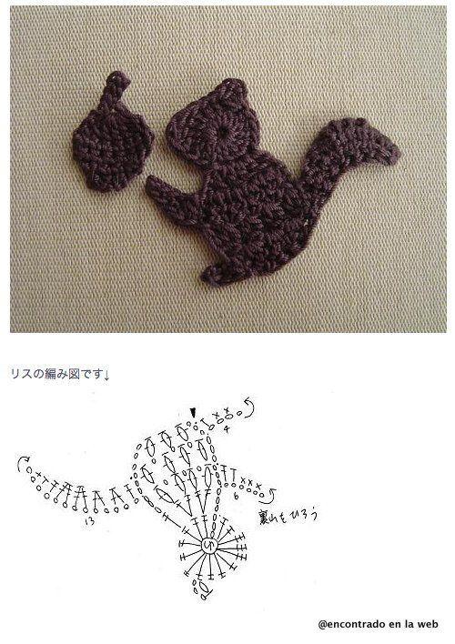 Solo esquemas y diseños de crochet: animales | Crochet Motif ...