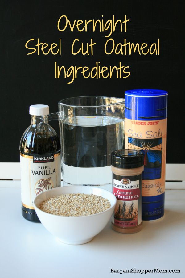 Overnight Steel Cut Oatmeal Ingredients. NO CROCKPOT NEEDED!