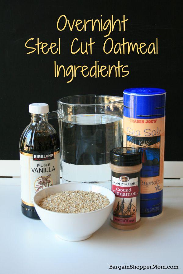 Overnight Steel Cut Oatmeal Ingredients. NO CROCKPOT NEEDED!