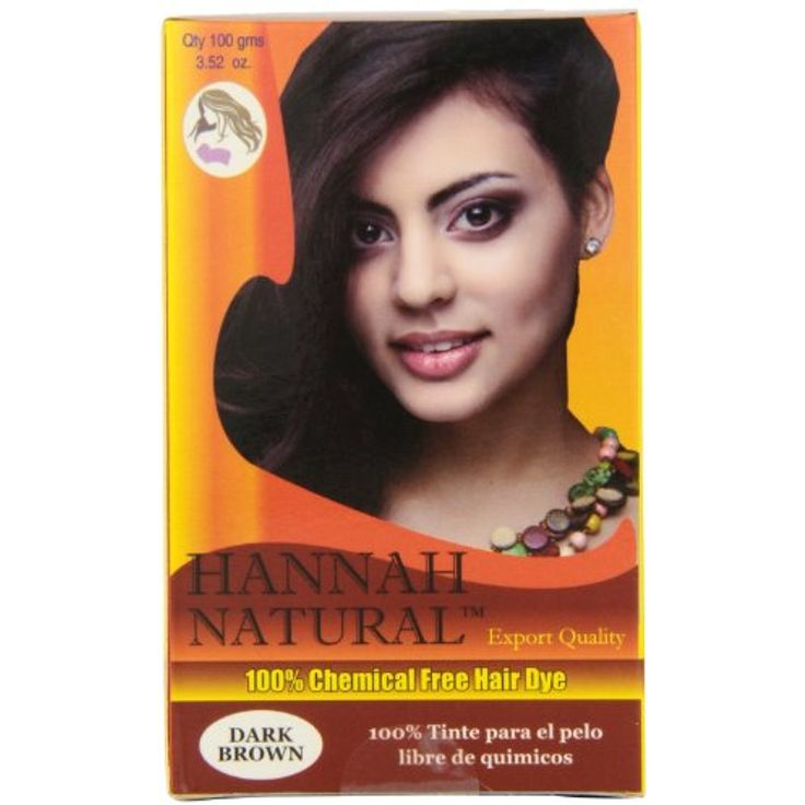 Hannah Natural 100% Chemical Free Hair Dye, Dark Brown, 100 Gram * Check this awesome product by going to the link at the image. (This is an affiliate link and I receive a commission for the sales)