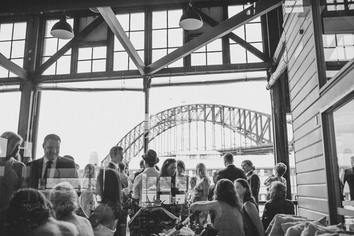 Gorgeous views of Sydney Harbour Bridge form inside The Bar At The End Of The Wharf, Walsh Bay Sydney | Photo Credit: Nina Claire Photographer - @ninaclairegibbs