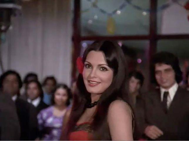 Parveen Babi in Amar Akhbar Anthony