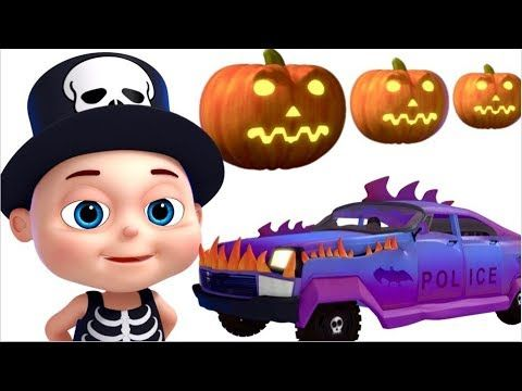 Scary Police Car Assembly | Halloween Vehicles | Videogyan Fun Videos| V...