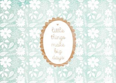 Little things make big things complimentkaart bij Kaartwereld: 20% korting bij het maken van een gratis account.