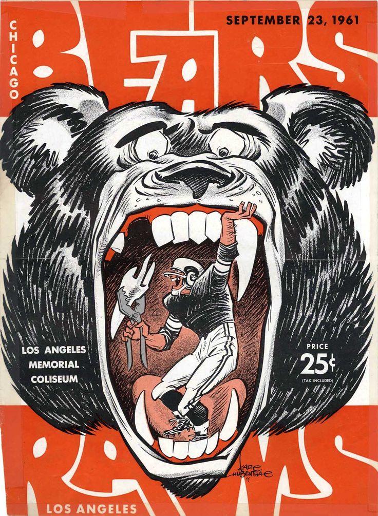 Karl Hubenthal, Chicago Bears program illustration, 1961.