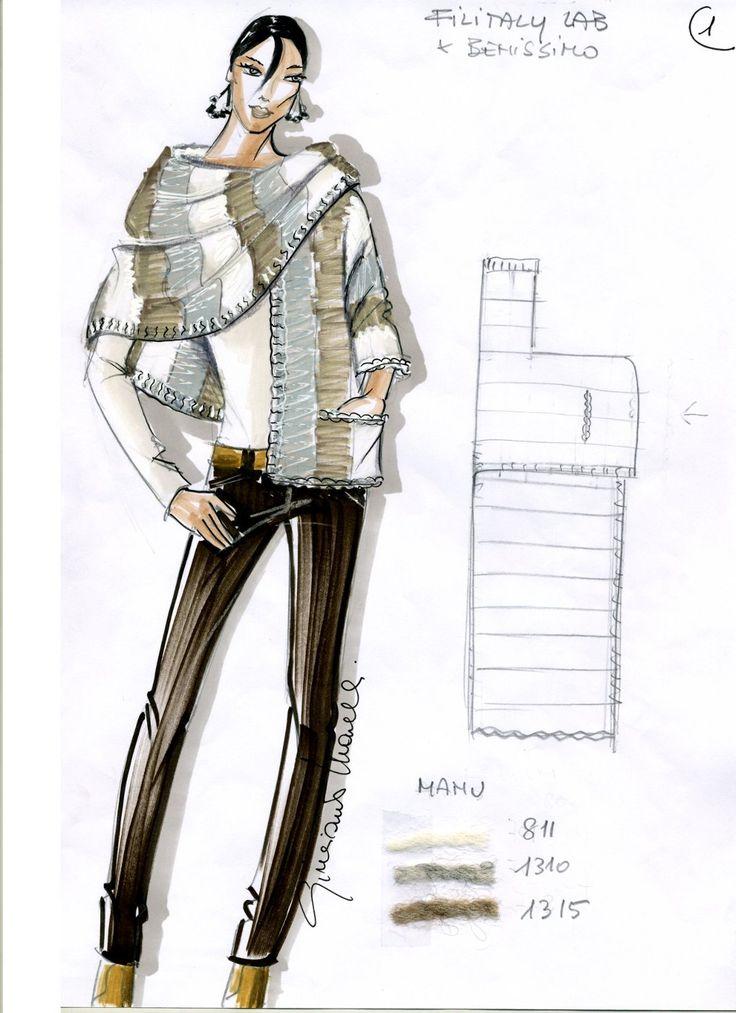 Cool one sleeve shawl - raccolta modelli in italiano