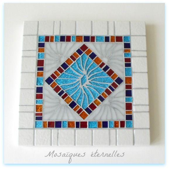 dessous de plat en mosaque smart format 20 x 20 cm cuisine - Idees Mosaiques Image