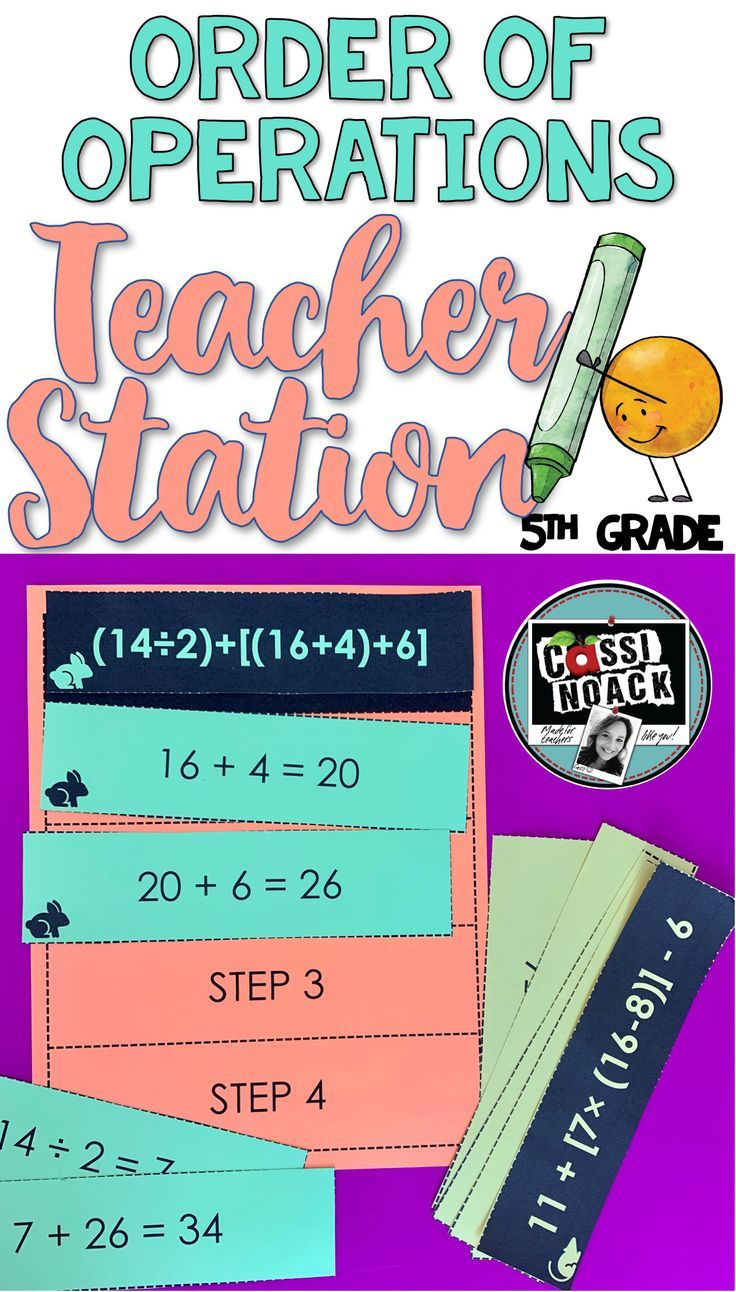 hight resolution of 5th grade Order of Operations Anchor Chart
