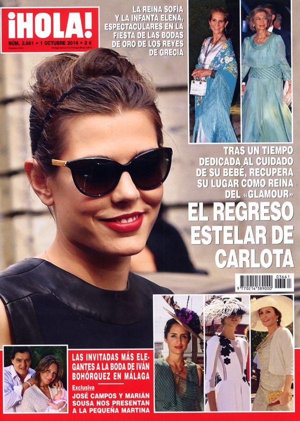 Esta semana en ¡HOLA!: El regreso estelar de Carlota; Las invitadas más elegantes a la boda de Iván Bohórquez; José Campos y Marián Sousa nos presentan a su hija; y más... #portada #covers