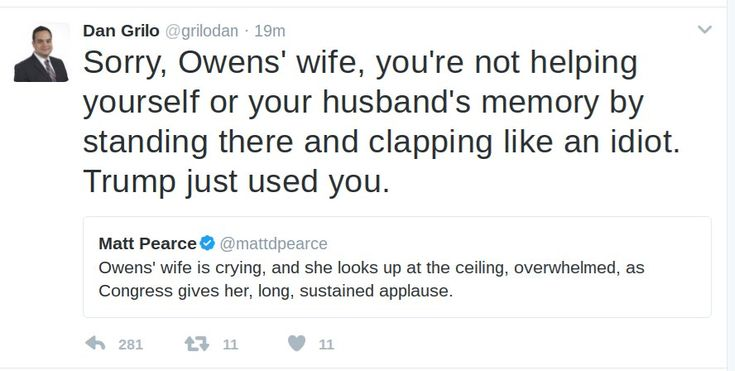DISGUSTING Former Hillary Clinton staffer Dan Grilo who worked closely with Podesta,called Ryan Owens widow an idiot and then deleted the tweet when he was called out.These idiots still dont know how the internet works and epitomize the reason Cli...