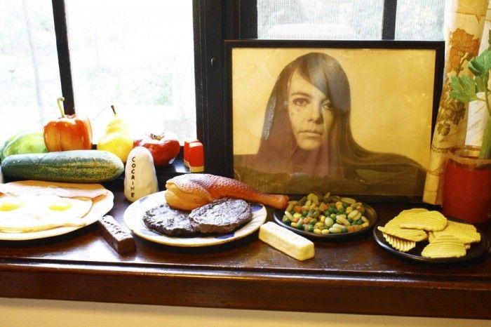 Fake food at John Water's house