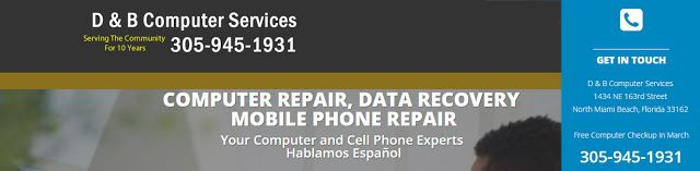 """D & B Computer Services - Computer Repair """"It's like we're right there with you""""  Our skilled technicians are prepared to solve your computer problems right now. Visit our convenient computer repair"""