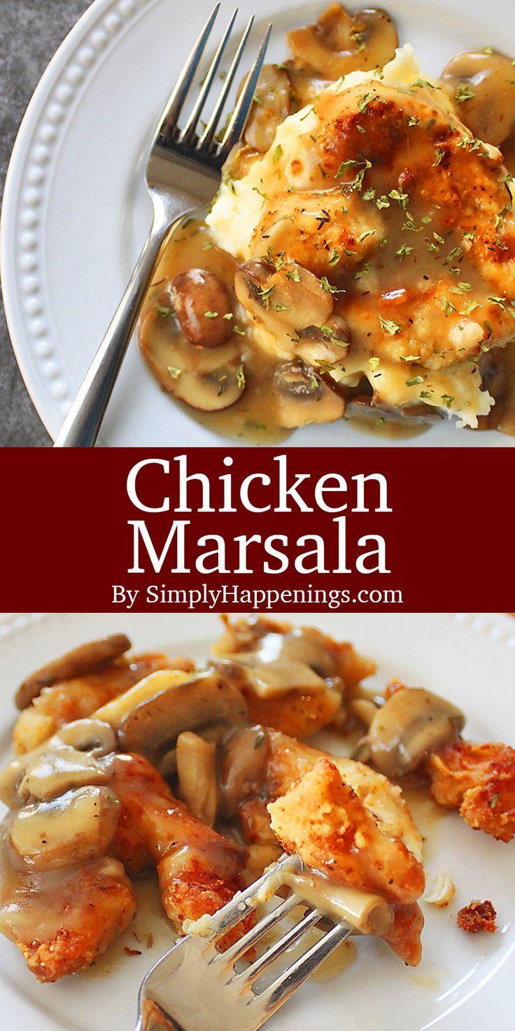 Chicken Marsala Recipe Chicken Marsala Healthy Snacks Recipes Best Dinner Recipes