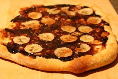 Chocolate, banana and Cheese Brazilian Pizza