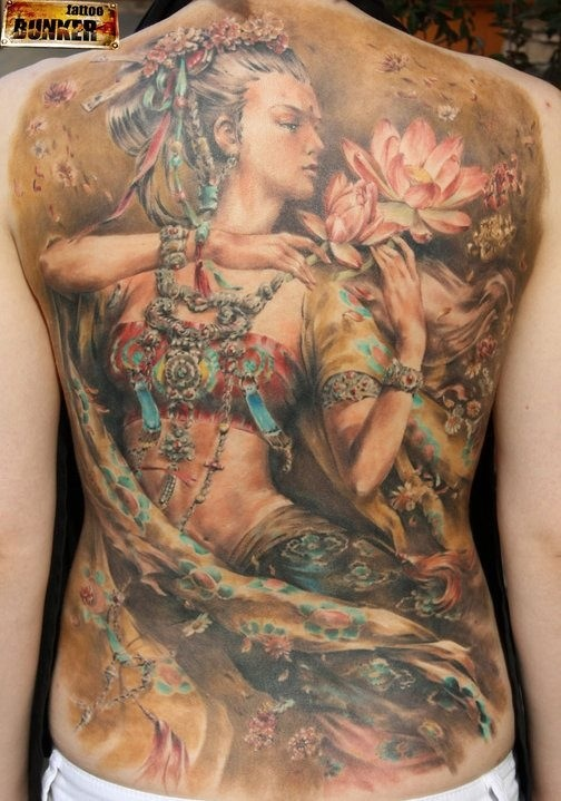 This really is the most incredible tattoo I have ever seen in my life. A Russian artist - only 23 yrs old! Incredible talent.