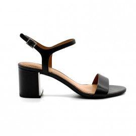 What For - Sandale Talon Large - cuir - noir (Existent en nude ou en camel)