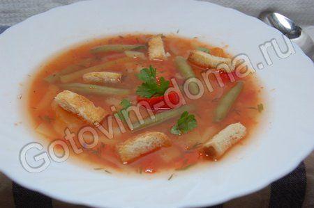 рецепт Суп с рисом и болгарским перцем