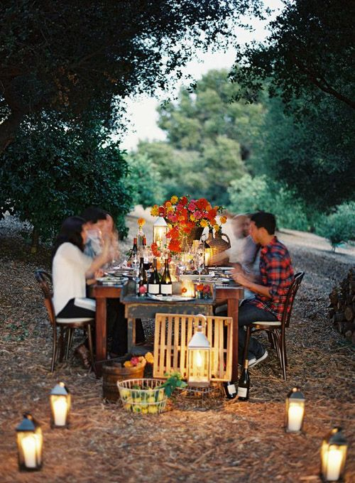 Farm to Table outdoor dinner via Design Sponge.  Photography by Karen Wise.  Styling by Santa Barbara Chic.