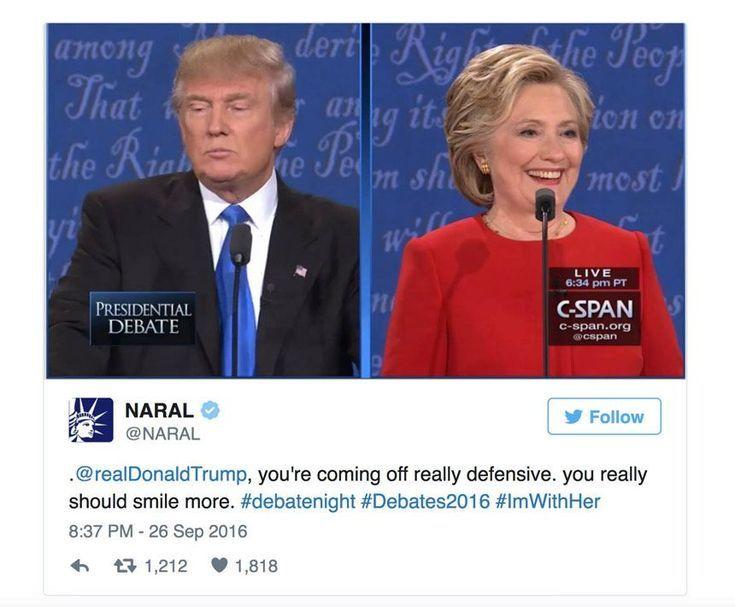 Funniest Presidential Debate Memes: NARAL Trolls Trump