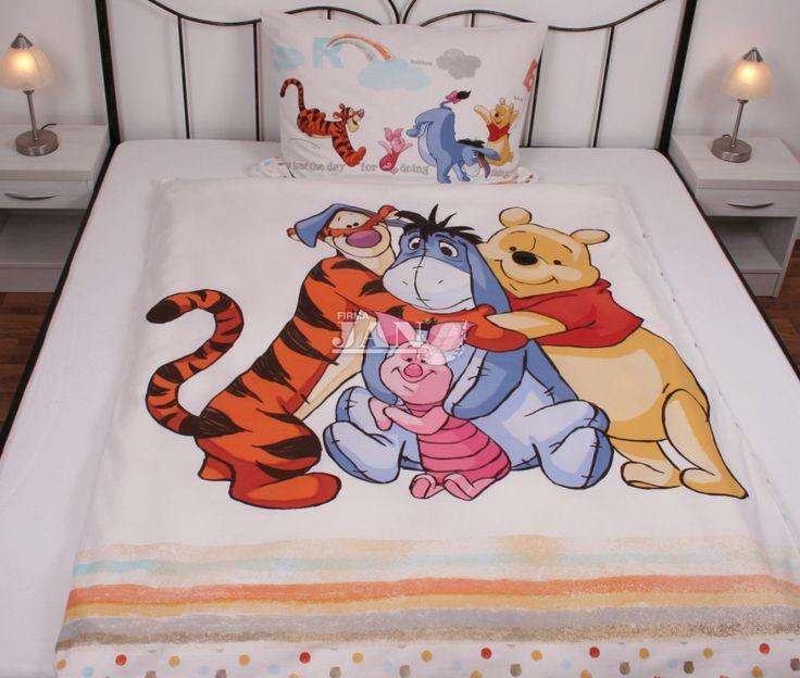 Povlečení Medvídek Pú 70x90, 140x200 | Dětské povlečení do velké postele | Peří JAN