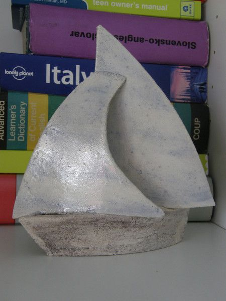 This Ceramic Sailing Boat is part of TatjanaCeramics design and is all hand made.  Being handmade each and every item is unique and one of a kind. ...
