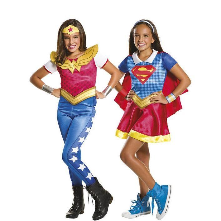 Pack disfraces wonder woman y supergirl para niña