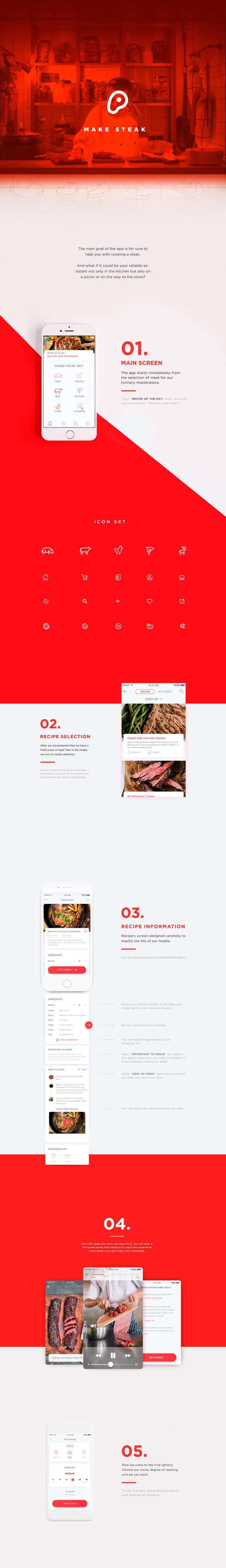 Make Steak Application on Behance