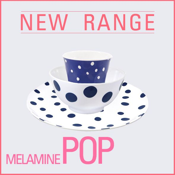 JUST IN! Our new range of melamine tableware with fun POP design comes in all different colours. Check out the full range here: http://goo.gl/fgo8jc