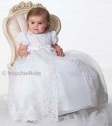 SL165 Sarah Louise Gown + Bonnet IVORY or WHITE