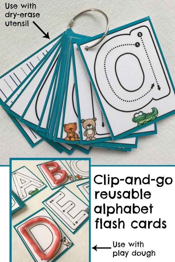 Clip-and-go reusable alphabet flash cards #alphabet #preschool #preschoolers #busybags #abc #affiliate
