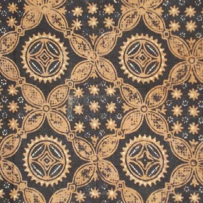 Vintage Javanese batik geometric design
