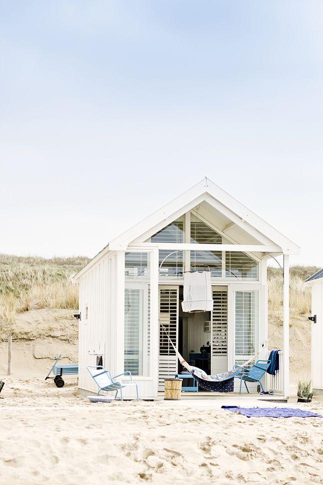 Maritim - Ein Gäste-Gartenhaus am Strand.