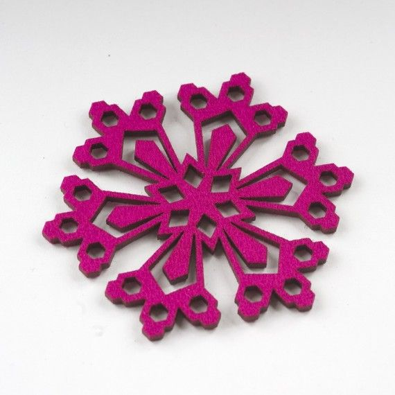 how to cut a snowflake out of felt