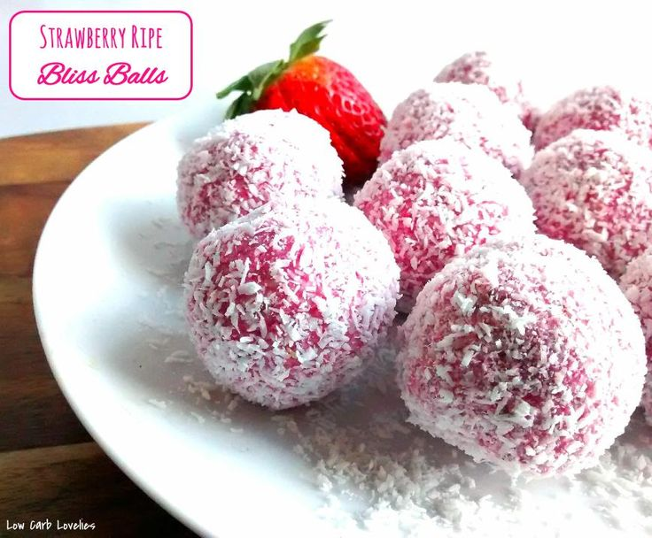 Strawberry Ripe Bliss Balls - by Low Carb Lovelies