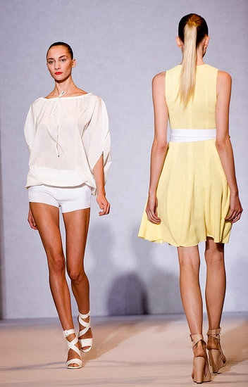 I wonder what the front of this beautiful yellow dress looks like!  Nicole Farhi Spring 2012
