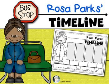 Want all my timelines? Click here to get all 10 of them!MEGA Bundle Timelines for Social Studies You are receiving a timeline for an event in Rosa Parks life.This Rosa Parks timeline depicts/tells the following:Rosa went to jailPeople did not use the bus.Rosa did not give up her seat.The law was changed.If you need other Rosa Parks resources please look in my store:Rosa Parks Emergent ReaderI also have Ruby Bridges' resourcesRuby Bridges Timeline and a reader too!Thanks for stopping by...