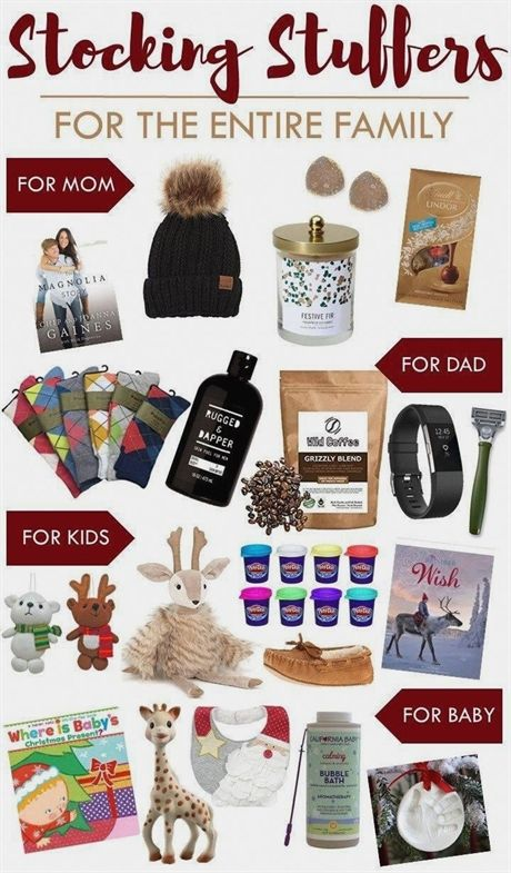 Stocking Stuffers for the Entire Family this Christmas | Gifts for Mom, Dad,  Kids, and Baby! Gift ideas for Christmas. #christmasfun #ChristmasGifts - Stocking Stuffers For The Entire Family This Christmas Gifts For