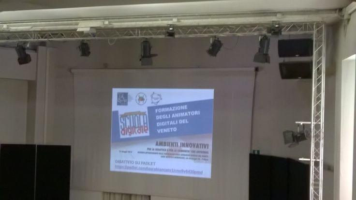 : Ho partecipato a Padova agli incontri del 18 aprile 2016 sulle Competenze Digitali e del 18 maggio 2016 :AMBIENTI INNOVATIVI per la didattica e per la comunità che apprende