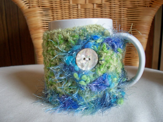 Mug Cozy Tea Cup Coffee Crocheted by soulybarb on Etsy