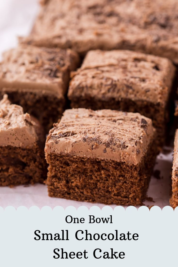 One Bowl Small Chocolate Sheet Cake With Chocolate Buttercream