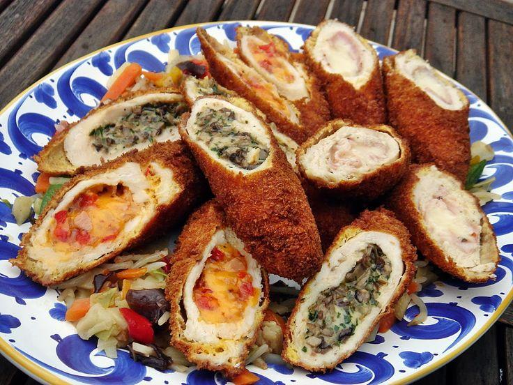 Nem vagyok mesterszakács: Sajttal töltött csirkemell rántva – most Tex Mex, olaszos és gombás