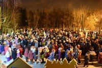 Праздник открытия новогодней иллюминации в парке г. Воскресенск #kvantil-event