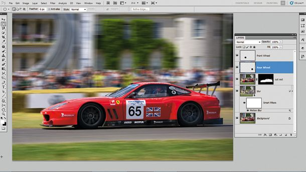 Photoshop Effects: How to fake perfect panning photos