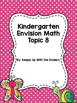 Kindergarten Envision Math Topic 8