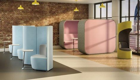 Cocoon-acoustic-seating