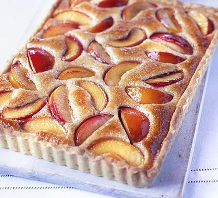Peach Almond Tart...Frangipan is the technical name for this almond batter surrounding fresh peaches.  My knees are weak!!!