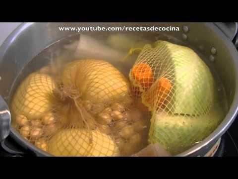 ▶ Cocido - Receta rápida para olla express - YouTube