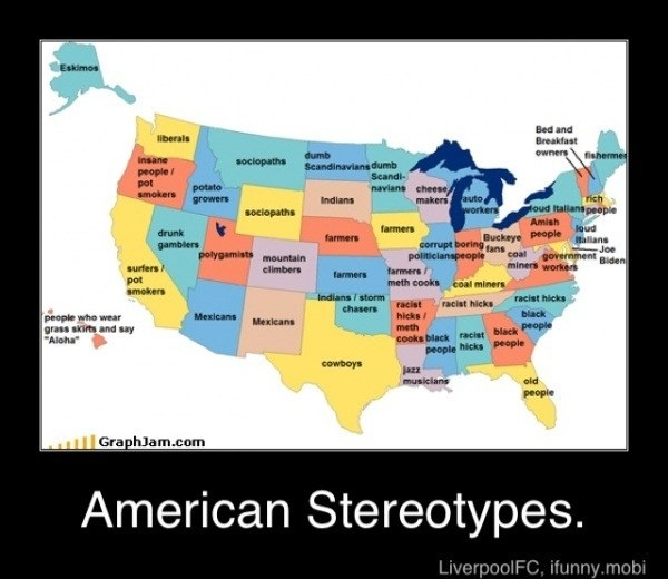 Best Stereotypical Maps Images On Pinterest Funny Stuff - Us stereotypes map