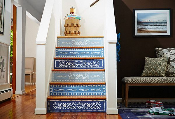 Would you dare...paint your stairs?? Find the how-to here! https://www.onekingslane.com/live-love-home/painted-stairs-project/