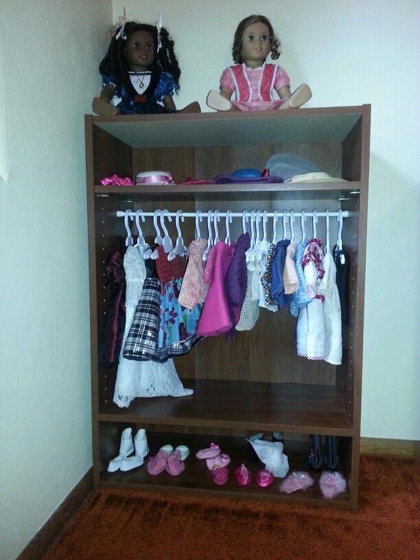 Bookshelf U003d American Girl Doll Armoire/closet
